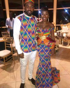 Hey Damsels, Have you checked out the latest Kente styles? It is true that Kente… African Wedding Theme, African Wedding Attire, African Attire, African Wear, African Women, African Dress, African Life, Ghana Traditional Wedding, Traditional Fashion