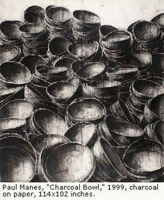 Paul Manes, charcoal