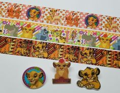 3 Yds & 3 Resin Mix. Lot The Lion King/The Lion Guard Inspired Grosgrain Ribbon  #Unbranded