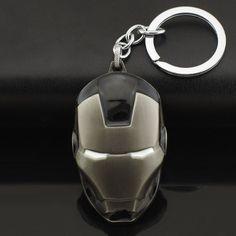 Marvel Comics Super Hero Avengers Iron Man Mask Metal KeyRings Key Chains Purse Bag Buckle Key Holder Accessories Keychains K103