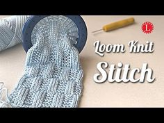 The Garter Stitch Rectangles is a beautiful stitch pattern that combines the rib stitch with a basket weave. Watch the step by step video tutorial Round Loom Knitting, Loom Knitting Stitches, Knitting Videos, Spool Knitting, Knifty Knitter, Knitting Needles, Loom Yarn, Loom Knit Hat, Loom Weaving