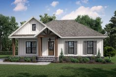 This modern farmhouse plan features an open floor plan that feels stylish and cool. Questions? Call 1-800-447-0027 today. #architect #architecture #buildingdesign #homedesign #residence #homesweethome #dreamhome #newhome #newhouse #foreverhome #interiors #archdaily #modern #farmhouse #house #lifestyle #design #buildersareessential