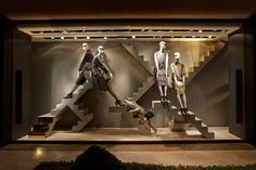 MaxMara: Urban Jungle, Paris By www.chameleonvisual.com Retail Windows, Store Windows, Window Display Design, Window Displays, Vitrine Design, Behind The Glass, Visual Display, Window Dressings, Store Displays