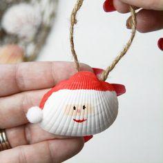 DIY Santa Seashell Ornament