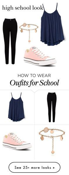 """high school"" by joy9224 on Polyvore featuring Converse, EAST and Gap"