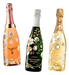 Criadaem 1902 por Émile Gallé, a garrafa original dos champanhes Belle Epoque da Perrier-Jouët é decorada com anêmonas japonesas e rosas. Em 2012, o japonês Makoto Azuma aplicou sua arte floral sobre a obra de Gallé para uma edição especial (Foto:  )