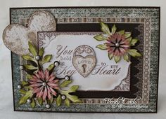Card made by Liz using Floral Keys from Heartfelt Creations.