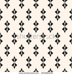 Geometric seamless pattern. Abstract monochrome background with curved shapes, rhombuses, feathers. Black and white repeat texture, art deco style. Ornamental design for decor, textile. - Stock vector