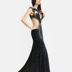 Symmetrical patterned, hand beaded, sweep train gown. Fashion Designer, Confident Woman, Handmade Dresses, Prom Dresses, Formal Dresses, Dublin, Ready To Wear, Train, Gowns