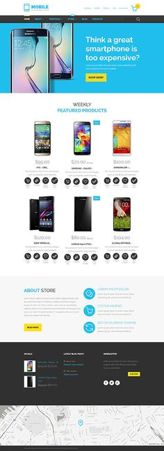 Smartphone Devices Online Store #WooCommerce #template. #themes #business #responsive #WooCommercethemes