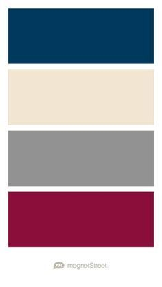 royal blue, burgundy, and champagne palette - Google Search                                                                                                                                                                                 More