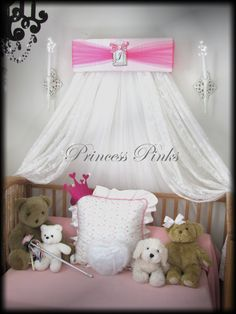 SALE ....................*******  Princess CrOwN PINKS Crib Canopy FREE by SoZoeyBoutique, $49.97
