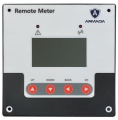 For use with Armada MPPT Controllers. Features a screen with numeric and graphic menus, easy to read design, able to record the historical data of any given day, features two indicator lights to indicate controller abnormalities and communication errors. Remote, Communication, Nova, Lights, Easy, Projects, Design, Lighting