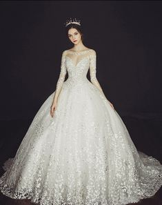 18 Classic Statement Ball Gowns For Romantic Brides!