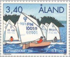 Stamp: WC Sailing Optimist- class (Åland Islands) Mi:AX 104,Sn:AX 118,Yt:AX 104,AFA:AX 104