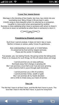 """Love """"Friendship"""" By Elizabeth Jennings"""