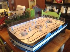 SK Mini Rinks custom Howitzer game...Ontario table hockey...Google and contact Sid of SK Mini Rinks for your custom PowerPlay 2 or Howitzer board Wayne Gretzky, Hockey Games, Old Games, Nhl, Ontario, Eagle, Retro, Mini, Board