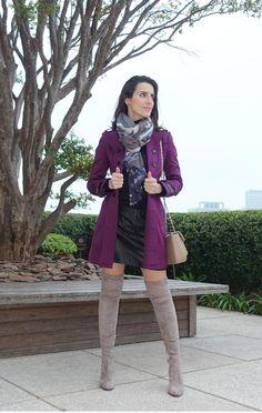 Look do Dia | Trench Coat e bota cuissarde  Read more: Look do Dia | Trench Coat e bota cuissarde  Read more: http://www.makeupatelier.com.br/#ixzz4DAR64DRr  botas, cuissarde, trench coat, bota cinza,