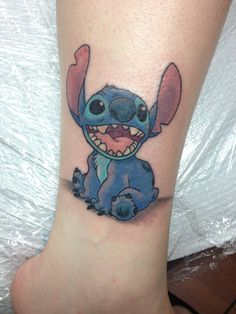 My Disney Tattoo! Stitch! Done by Tori at Studio 69 in Ronkonkoma NY!