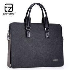 Men Real Leather Business Large 15'' Laptop Briefcase Lightly Loved Attache Bag #teemzone #SuitGarmentBag