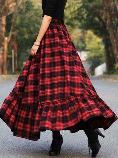 Plaid Skirts Vintage Cotton Long Skirt for Women Boho Summer Dresses, Boho Dress, Dress Skirt, Casual Dresses, Elegant Dresses, Sexy Dresses, Formal Dresses, Wedding Dresses, Evening Dresses