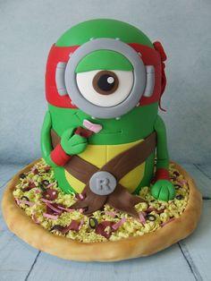 tmnt minion cake