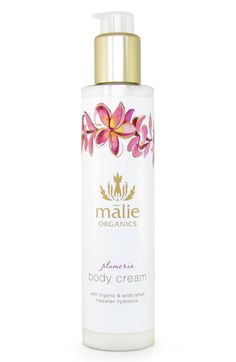 Malie Organics Plumeria Organic Body Cream. I want to try this product line - hear great things about them and I'm a bit obsessed with the plumeria scent right now :) :) :)