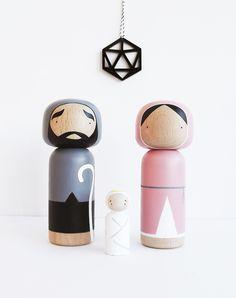 Custom Kokeshis - Nativity