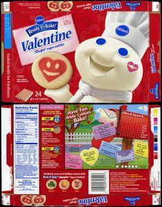 pillsbury ready to bake valentine shape sugar cookies box 2010 by jasonliebig