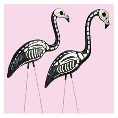 Halloween Skeleton Yard Flamingos Lawn Decor Ornaments