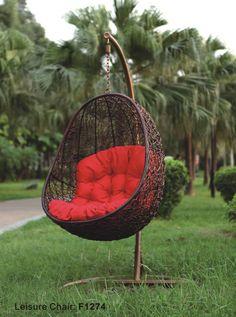 Rattan Swing Hammock Lounged Hanging Basket Cradle Chair