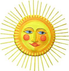 Deko-Objekte - Sonne, Pappmache, d ca 43cm - ein Designerstück von villaazula bei DaWanda