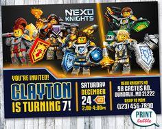 Lego Nexo Knights Invitation Lego Nexo by PrintBubbleInvites