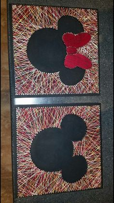 Mickey and Minnie string art