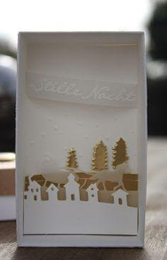 Danielas Stempelwelt: Weihnachtliche Box mit besonderem Inhalt - Anleitung