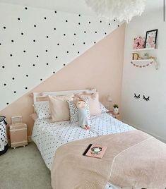Bedroom Wall Designs, Room Design Bedroom, Room Ideas Bedroom, Baby Room Decor, Bedroom Office, Girls Room Paint, Girl Bedroom Walls, Girl Room, Teen Bedroom