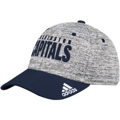 7df069596 Men's Washington Capitals adidas Heathered Gray/Navy Delta Flex Hat, Your  Price: $25.99