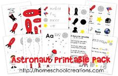 Astronaut Preschool Pack Printables