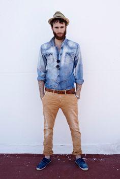 beige + jeans