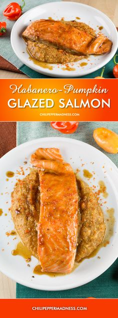 Business Cookware Ought To Be Sturdy And Sensible Habanero-Pumpkin Glazed Salmon over Spicy Pumpkin Polenta Orange Recipes, Salmon Recipes, Fish Recipes, Seafood Recipes, Pepper Recipes, Polenta, Spicy Salmon, Glazed Salmon, Seafood Diet