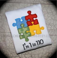 Autism Awareness Tee T Shirt or Onesie Puzzle by LondonStitches, $22.00