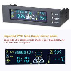 "Promotion New Fan Speed Controller Fan Controller 5.25"" Front Panel 3 CPU Temperature Sensor"