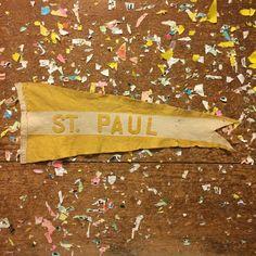 St. Paul Minnesota Yellow Felt Pennant by ThePennantProject
