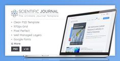 #Research and Science - #Scientific Journal Template - #Corporate PSD Templates