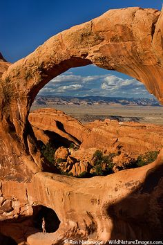 Double O Arch, Devils Garden, Arches National Park near Moab, Utah