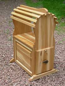 Hickory space saver saddle stand