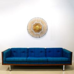 Danish Modern Sofa Blue now featured on Fab.