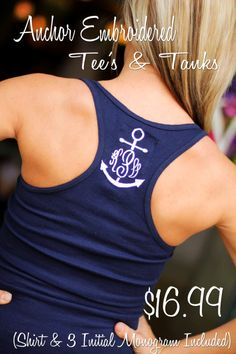 Anchor Monogram Tanks