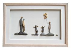 Family wall art Family of five gift Pebble art by PebbleArtDream