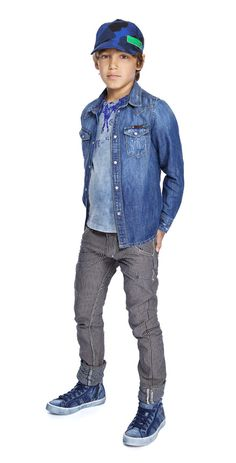 Blu Diesel Teen Boys Fashion Attire. Great casual cool style. (Bigger pants for Q)